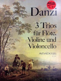 Danzi 3 Trios für Flöte, Violine und Violoncello