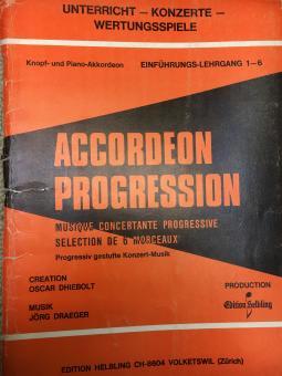 Accordeon progression Einführungslehrgang 1-6