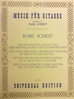 Die leichtesten Solostücke berühmter Lauten- und Gitarrenmeister Musik für Gitarre