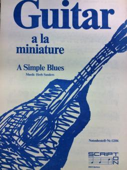 Guitar a la miniature