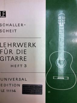 Lehrwerk für die Gitarre 3