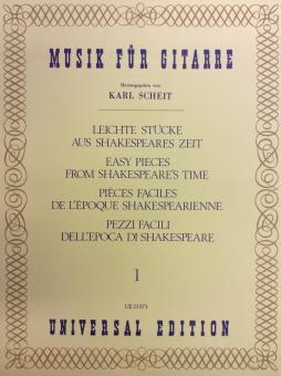 Leichte Stücke aus Shakespearses Zeit 1 Musik für Gitarre