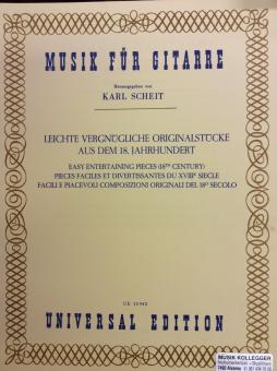 Leichte vergnügliche Originalstücke aus dem 18. Jahrhunder Musik für Gitarre