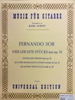 Vier leichte Stücke aus op. 35 Musik für Gitarre