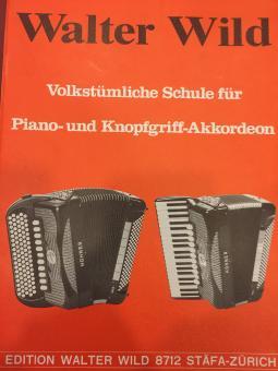 Volkstümliche Schule für Piano- Und Knopfgriff-Akkordeon