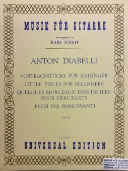 Vortragsstücke für Anfänger op. 39 Musik für Gitarre