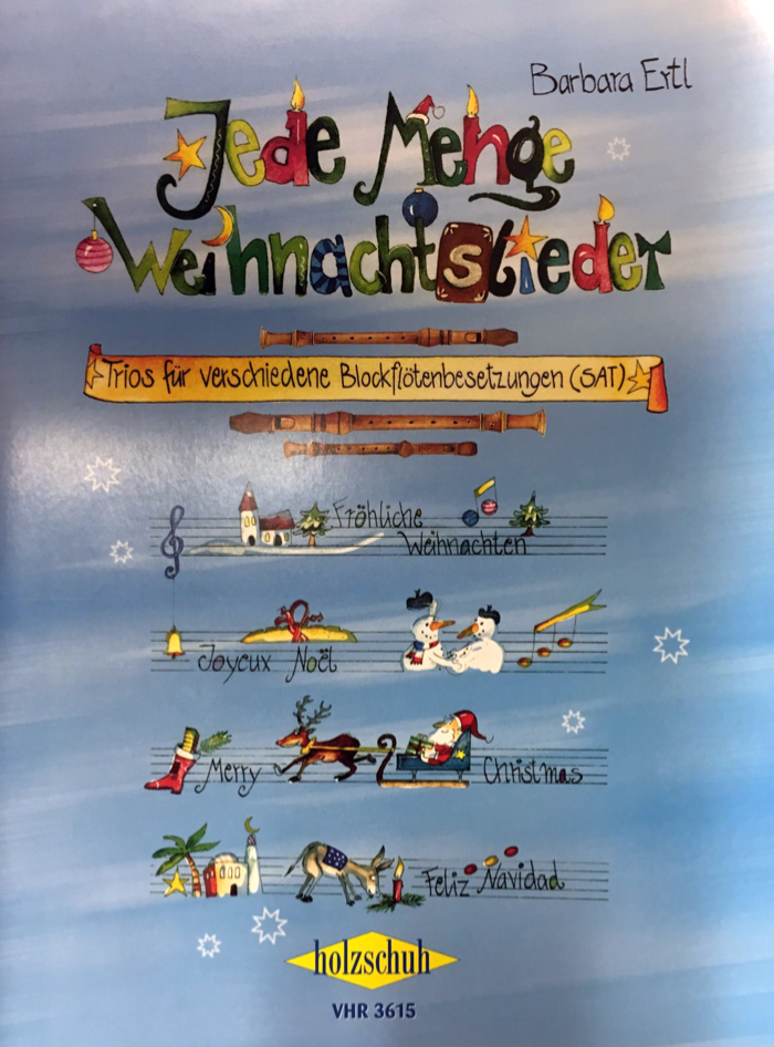 Verschiedene Weihnachtslieder.Jede Menge Weihnachtslieder Trios Für Verschiedene Blockflötensetzungen Sat